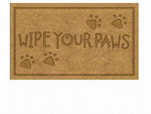 Besp-oak PVC Embossed Wipe Your Paws Door Mat