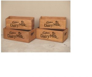 Besp-oak Rectangular Wooden Crate Cadbury- Small