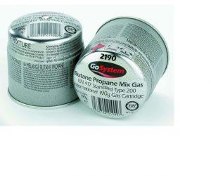 GoSystem Pierceable Gas Cartridge 190g (1 can)