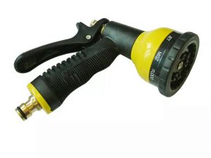 HomeGardener Hose Spray Gun 9 Pattern Zinc