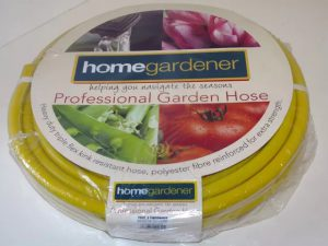 HomeGardener Reinforced Hose Yellow 30m