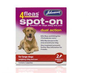 Johnsons 4 Fleas Spot On Large Dog 400mg