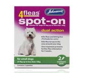 Johnsons 4 Fleas Spot On Small Dog 100mg