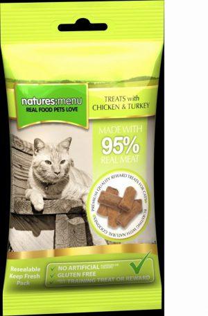 Natures Menu Cat Treats Chicken and Turkey 60g