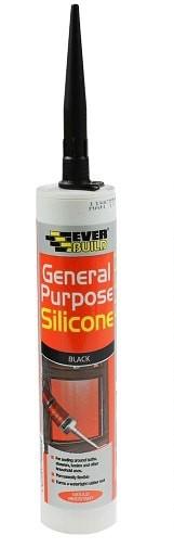 Everbuild General Purpose Silicone Black 310ml