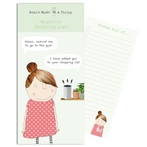 Rosie Magnetic Shopping List Alexa Gin