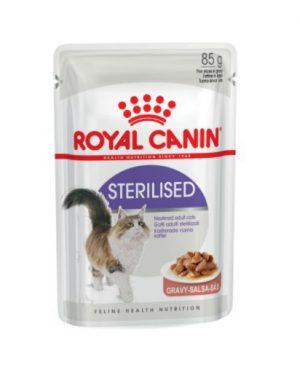 Royal Canin Sterilised (in gravy) Wet Cat Food Pouch 85g