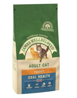 James Wellbeloved Adult Oral Care Turkey Dry Cat Food 1.5kg