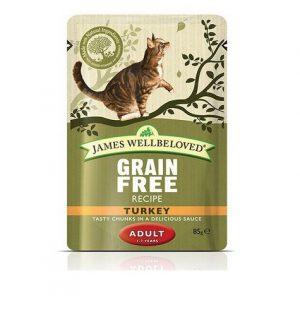 James Wellbeloved Adult Grain Free Turkey Wet Food Pouch 85g