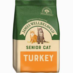 James Wellbeloved Senior Turkey and Rice Dry Cat Food 1.5kg