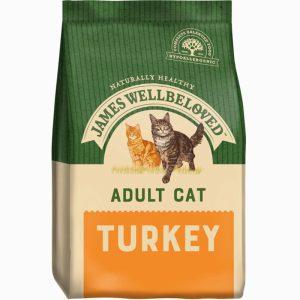 James Wellbeloved Adult Turkey and Rice Dry Cat Food 1.5kg