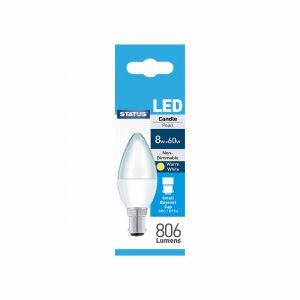 8 Watt SBC LED Candle Bulb
