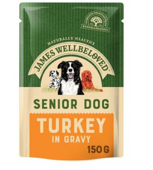 James Wellbeloved Turkey & Rice Senior Pouch 150g
