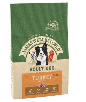 James Wellbeloved Turkey and Rice Adult 7.5kg