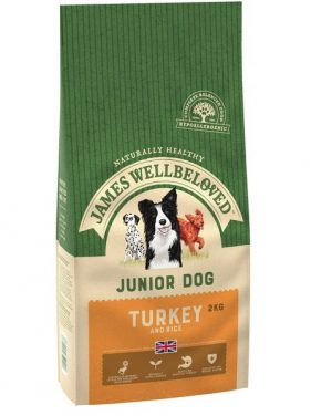 James Wellbeloved Turkey and Rice Junior 2kg