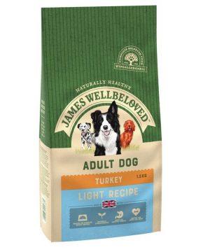 James Wellbeloved Dog Food Turkey and Rice Light Adult 1.5kg