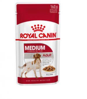 Royal Canin Medium Adult (in gravy) Wet Dog Food Pouch 140g