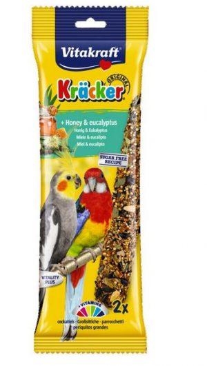 Vitakraft Kracker Honey & Eukalyptus Cockatiel- 2 Sticks