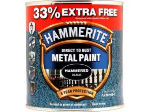 Hammerite Direct To Metal Hammer Black 750ml + 33%