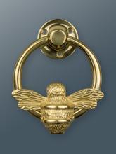 Door Knocker Brass Ring Bee