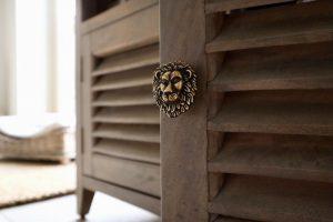 Drawer Knob Heritage Brass Lion