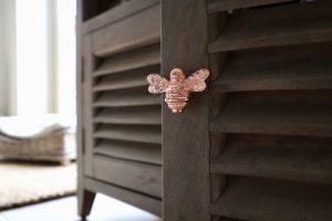 Drawer Knob Rose Gold Bee