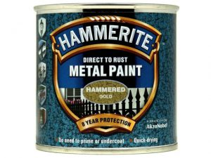 Hammerite Direct To Metal Hammered Gold 250ml