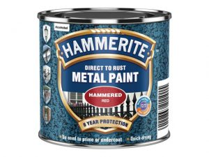 Hammerite Direct To Metal Hammered Red 250ml