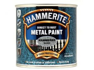Hammerite Direct To Metal Hammered Silver 250ml