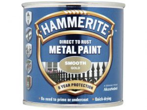 Hammerite Direct To Metal Smooth Gold 250ml