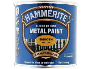 Hammerite Direct To Metal Smooth Yellow 750ml