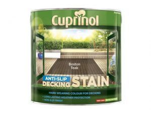 Cuprinol Anti-Slip Decking Stain Boston Teak 2.5 litre