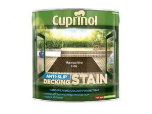 Cuprinol Anti-Slip Decking Stain Hampshire Oak 2.5 litre