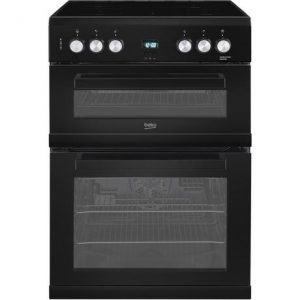 Beko EDC633K 60cm Double Oven Electric Cooker with Ceramic Hob –
