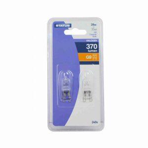 28 Watt 370 Lumens Status G9 Halogen Capsule Bulb 2pk