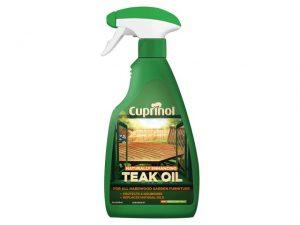 Cuprinol Natural/ Enhancing Teak Oil Spray Clear 500ml