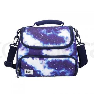 BUILT Prime Insulated Lunch Bag, 15.5 x 25 x 24cm Galaxy