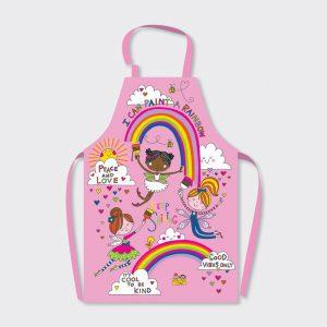 Rachel Ellen Childrens Apron- Paint A Rainbow/ Fairies