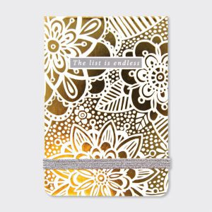 Rachel Ellen A7 Mini Notepad – Lustre Gold Floral