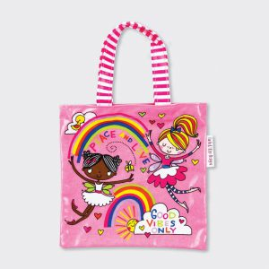 Rachel Ellen Mini Tote Bag – Peace and Love/ Fairies