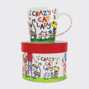 Rachel Ellen China Mug- Crazy Cat Lady