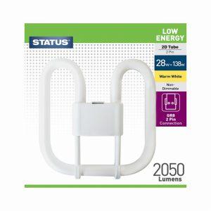 28w = 138w – Status – Low Energy – 2D – Warm White – 2 Pin