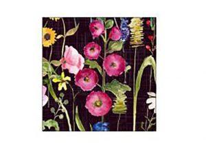 Meadow Black Coasters x 6