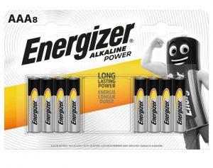 Energizer Alkaline Power Batteries AAA x 8