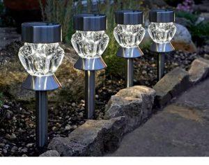 SmartGarden Crystal Stake Light Stainless Steel