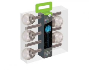 SmartGarden Crackle Globe Lights Stainless Steel x 5