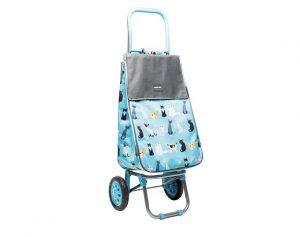 Sabichi Shopping Trolley Crazy Cat 2 Wheel