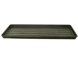 WhiteFurze Growbag Tray Black 98cm