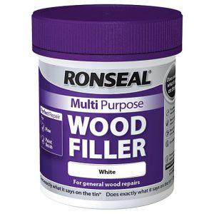 Ronseal Multi Purpose Wood Filler Tub White 250g