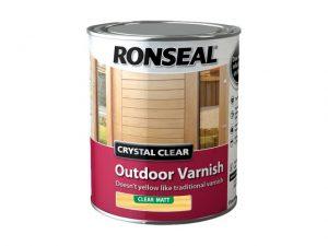 Ronseal Outdoor Varnish Matt Clear 750ml